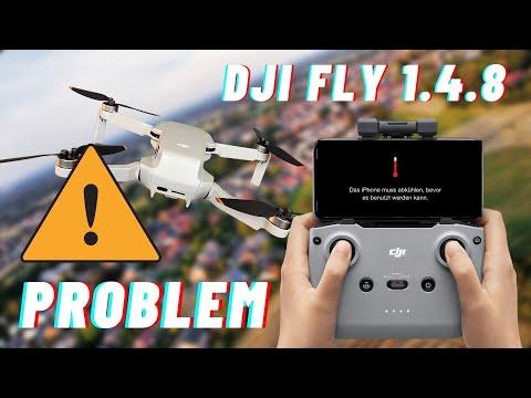 Achtung! DJI Fly 1.4.8 Problem mit verdunkelnden iPhone Displays (wieder behoben)
