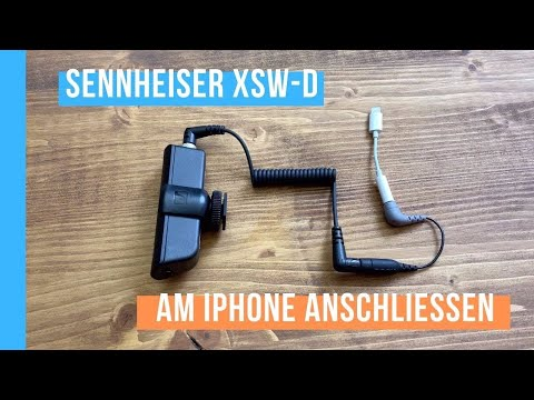 Sennheiser XSW-D am iPhone Lightning anschließen
