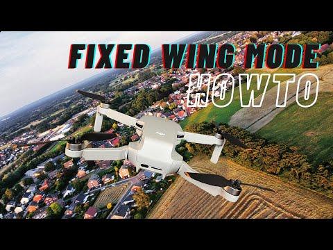 DJI Mavic Mini im Fixed Wing Mode wie einen Starrflügler fliegen