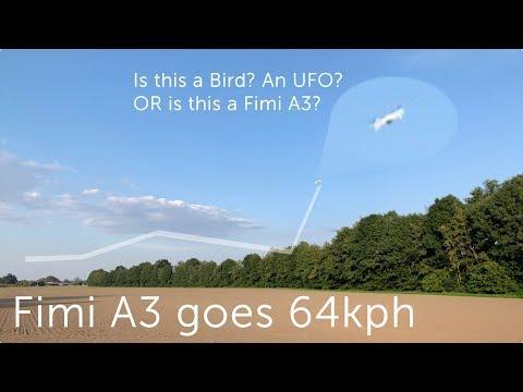 Fimi A3 Flight max. Speed at 64km/h * 40mph * 18m/s