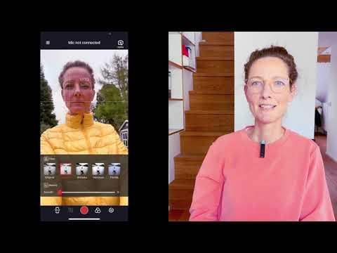 Smartmike+ von Sabinetek, kabelloses Bluetoothmikrofon (Lavalier) für das Smartphone