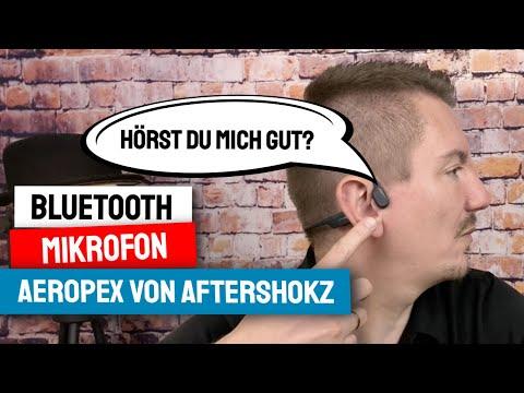 Aftershokz Aeropex Test der Bluetooth Kopfhörer als Mikrofonquelle