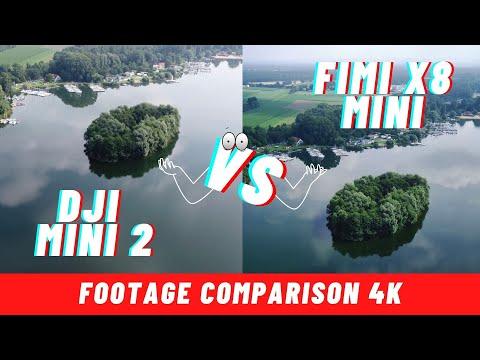 DJI Mini 2 vs Fimi x8 Mini 4k Video Qualität im Vergleich