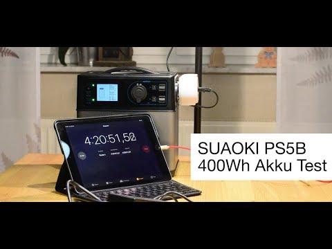 Der portable Generator Suaoki 400wh im Test - wie lang hält der Akku des Solar Generator PS5B?