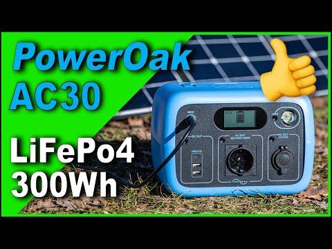 PowerOak AC30 300Wh PowerStation 🔋 LiFePo4   Vergleich mit AC50s   Autark   Review & Test   4K