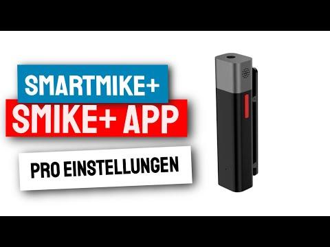 Sabinetek Smartmike+ PRO Einstellungen in der Smike+ App für beste Ergebnisse