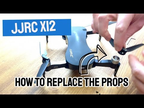 JJRC x12 propeller: how to replace after a drone crash