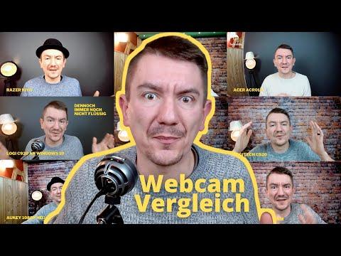 Logitech C920 vs Aukey Webcam vs Acer vs Razer vs Jelly Comb vs Logi Streamcam im Mega Vergleich