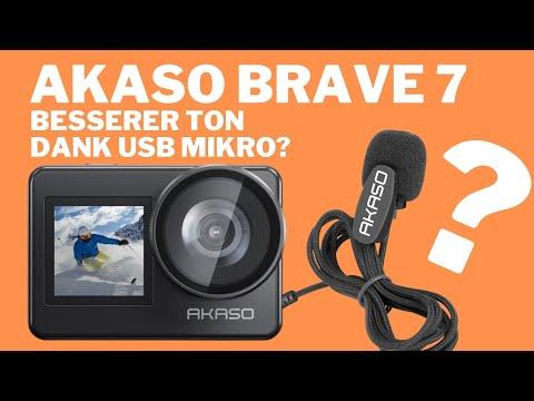 Akaso Brave 7 Problem: kann ein externes Mikrofon das schlechte Audio retten?