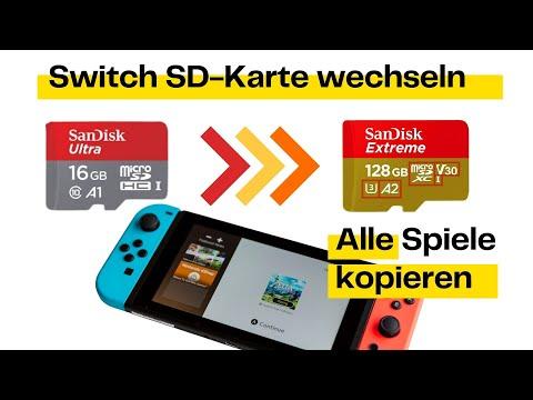 Nintendo Switch SD Karte wechseln und alle Spiele kopieren (einfach)