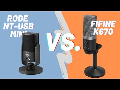 USB Mikrofon Vergleich: Fifine K670 vs. RODE NT USB Mini im Soundbeispiel