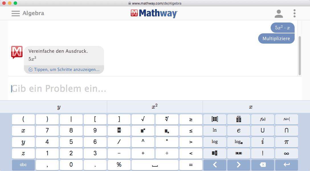 Online Gleichungen Lösen mit Ergebnis
