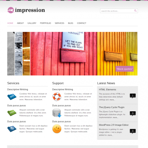 Impression - a premium WordPress Theme