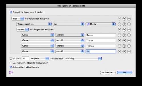 Intelligente Wiedergabelisten auf dem iPhone OS 3.1.3