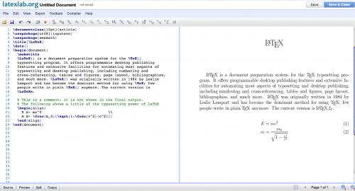 Google Docs LaTeXLab