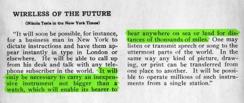 Tesla sagte Handy voraus