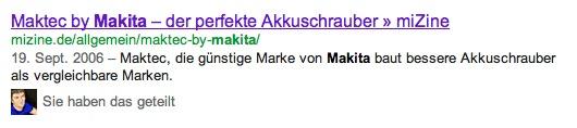 Makita Akkuschrauber Google SERPs