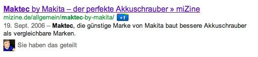 Maktec Akkuschrauber Google SERPs