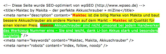 keywordrelevante meta descriptions in den Google SERPs