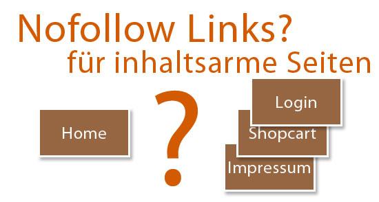 nofollow für interne Links auf inhaltsarme Webseiten?
