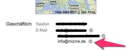 email adresse google profil verifizieren