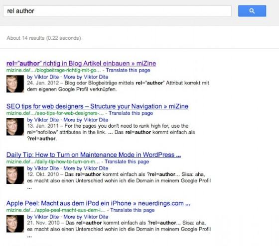 google serp autoren bilder