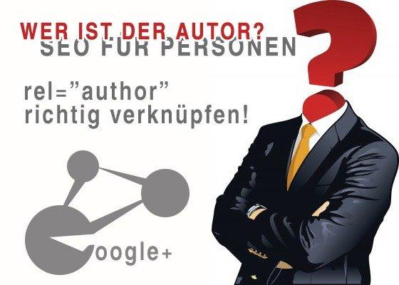 """rel=""""author"""" richtig mit Google verbinden"""