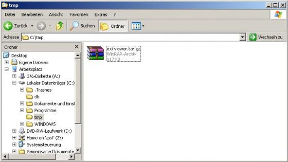 tar.gz entpacken windows