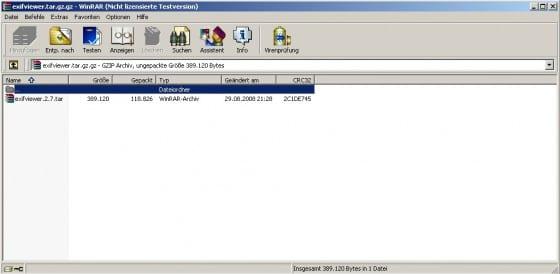tar.gz entpacken windows tar winrar