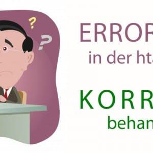 ErrorDocument 404 in der .htaccess korrekt umsetzen