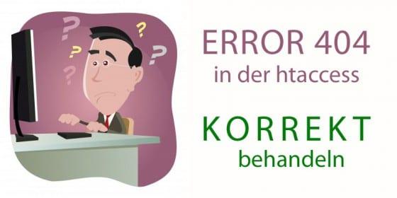 error 404 mit htaccess korrekt ausgeben