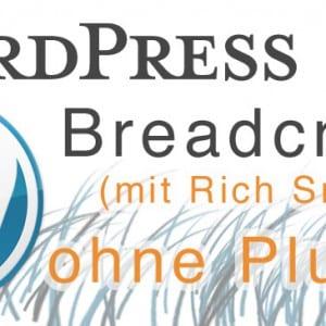 WordPress Breadcrumb Navigation ohne Plugins