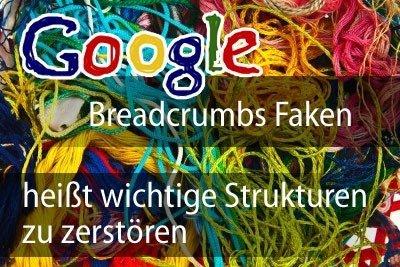 google breadcrumb faken