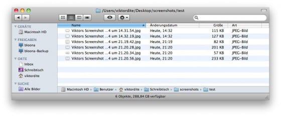 mehrere Dateien umbenennen am Mac