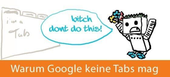 Google Bot mag keine Tabs