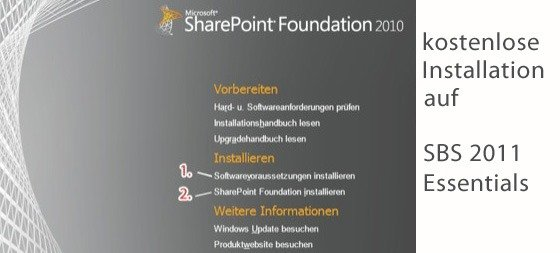 SBS 2011: SharePoint Foundation 2010 installieren