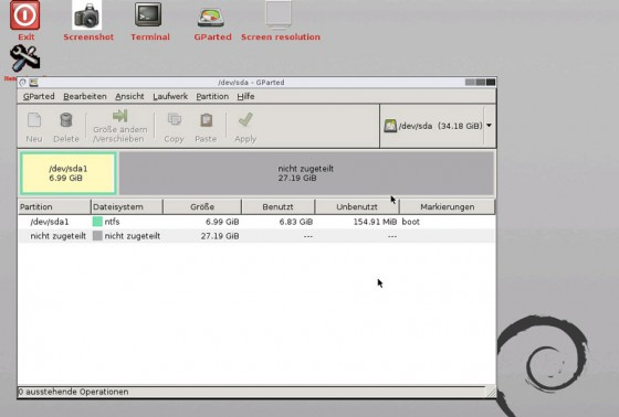 GParted-LiveCD-Boot-Start