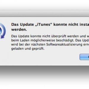 Das Update iTunes konnte nicht installiert werden