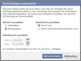 Facebook Analyse Daten exportieren-3