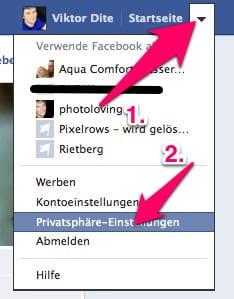 Facebook Privatsphäre Einstellungen