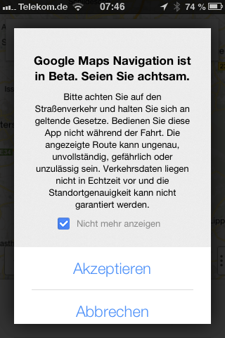 iphone google maps navigation