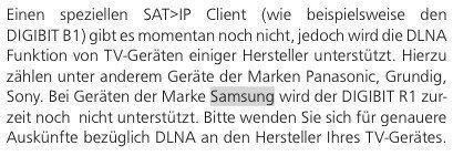 Telestar Digibit R1 Samsung TV DLNA