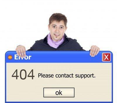 Wie Microsoft eine 404 Meldung bauen würde
