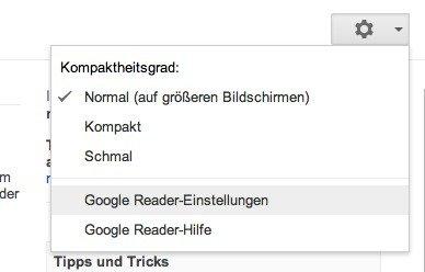 Google Reader Einstellungen