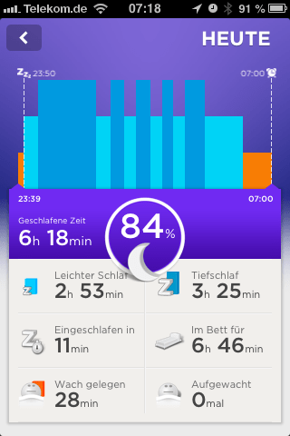 jawbone up Schlaflabor