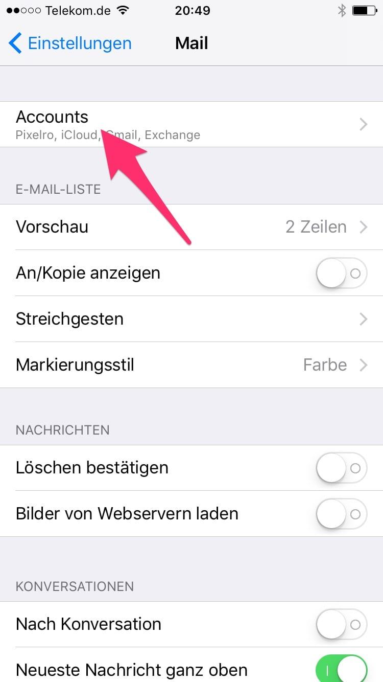 Gmx Imap Konto Am Ipad Oder Iphone Einrichten Mizine