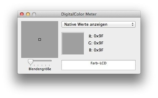 hex color picker am mac ohne zusätzliche Software