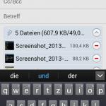 Android mehrere Bilder per Mail verschicken