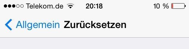 iOS 7.1 Akku Problem