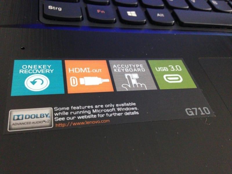 Lenovo G710 Windows 7